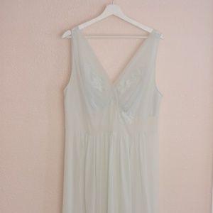 Pale Blue Vintage Sheer Nylon Nightgown